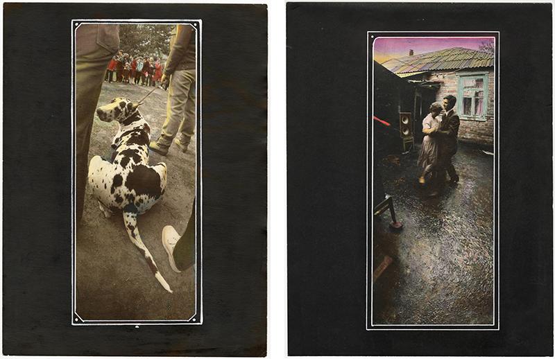 """Віктор та Сергій Кочетови, """"Красиві хмари"""", 1995, срібно-желатиновий друк, ручне розфарбування. Колекція MOKSOP."""